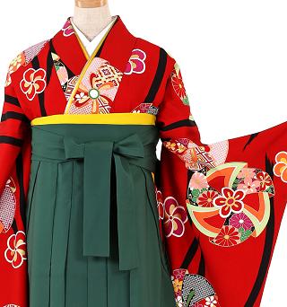 緑袴、赤卒業袴レンタル