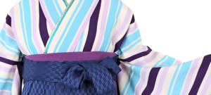 卒業式袴レンタル小さいサイズ 紺地に細かな矢絣の袴卒業袴No.055-0109-SM-600-2