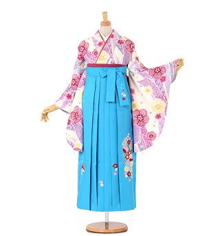卒業式袴レンタル小さいサイズ卒業袴No.055-0256-SM-320