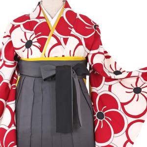 大きいサイズレトロ柄卒業式袴レンタル0308